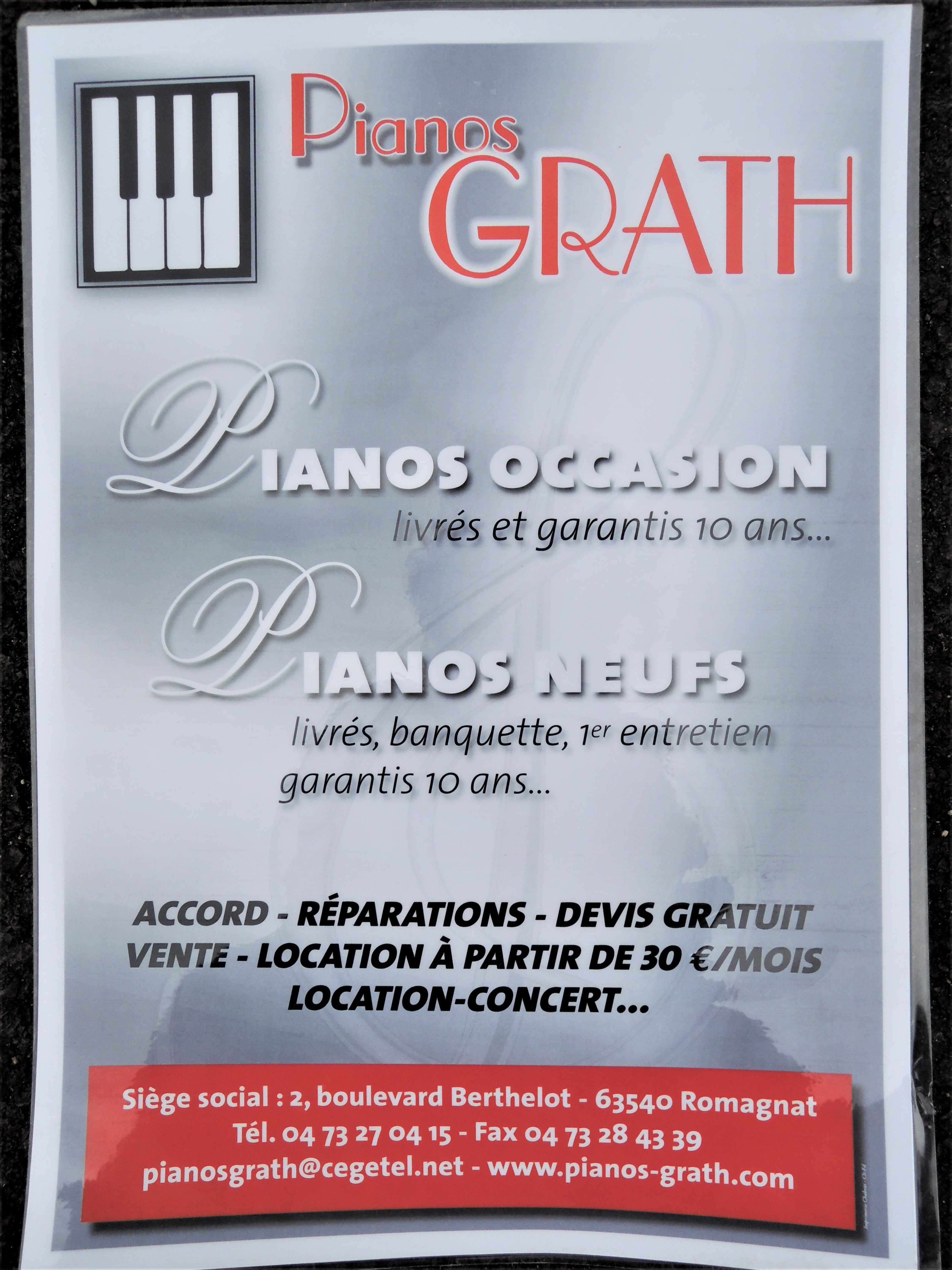 logo Piano Grath, à partir d'une photo d'affiche